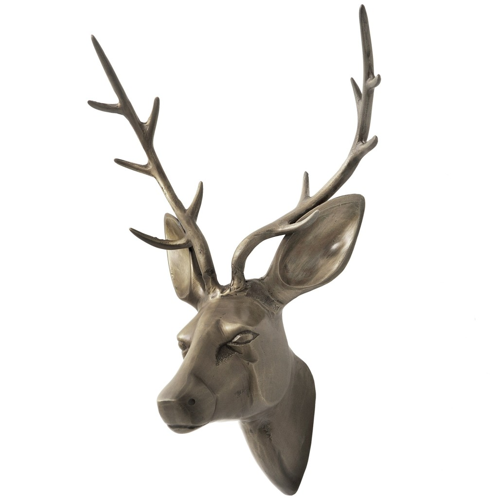 Brass large stags head