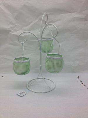 Mint Green tea light holder