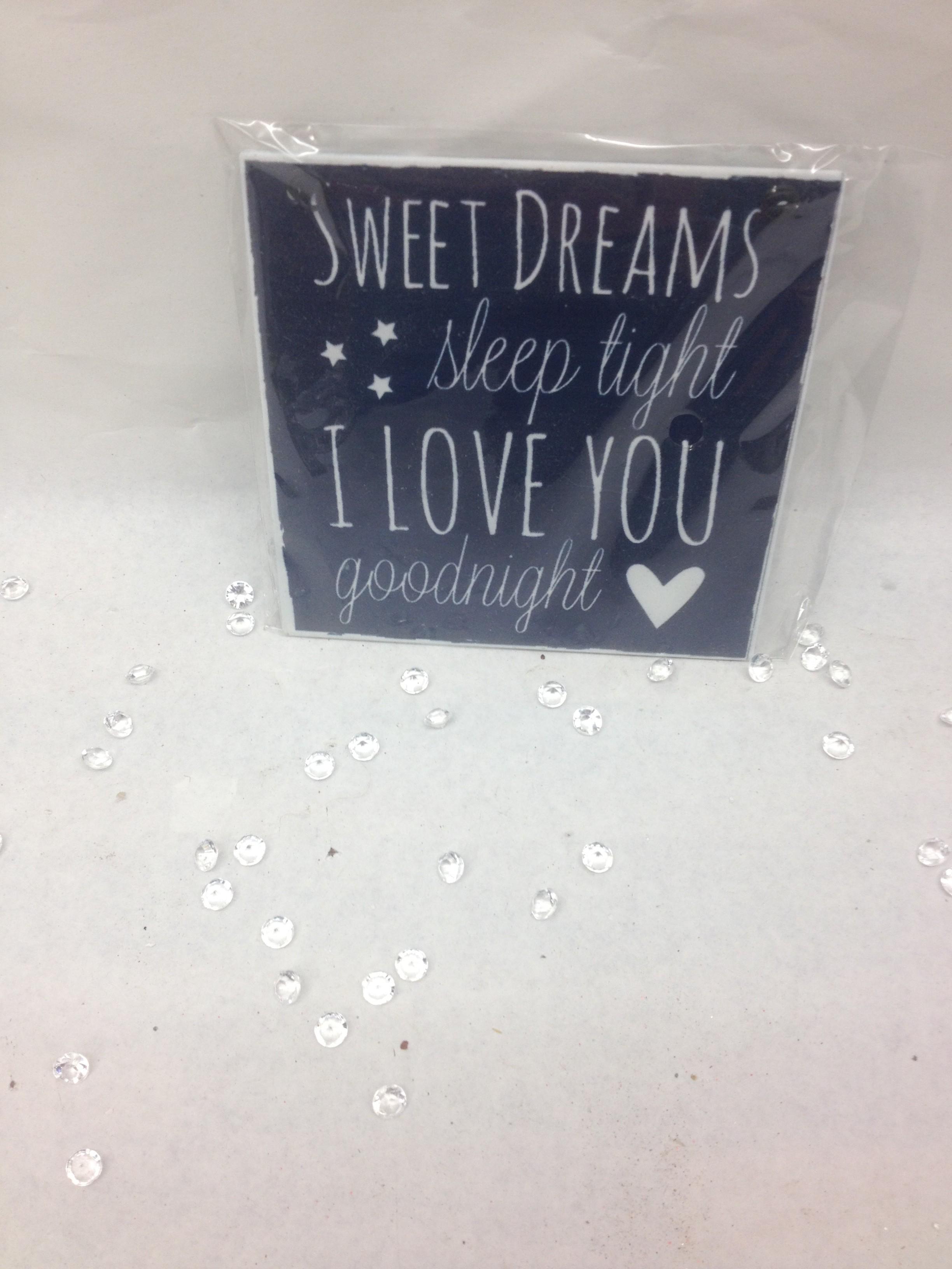 Sweet Dreams Plaque