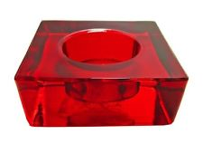 colony red square tea light holders