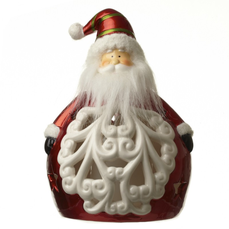 Porcelain Santa W/Led Lights