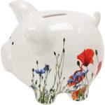 Flower Meadow Ceramic Piggy Bank