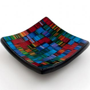 Mosaic spectrum candle plate