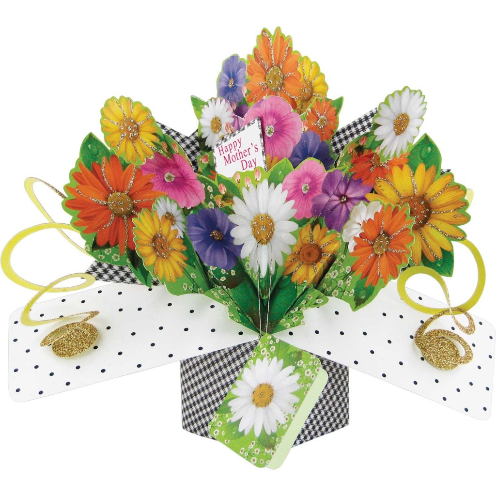 Mother's Day Bouquet Pop Up Card & Envelope