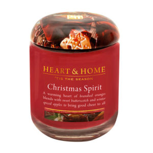 christmas spirit heart and home candle