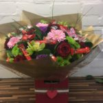 hand tie roses and lindt chocolates