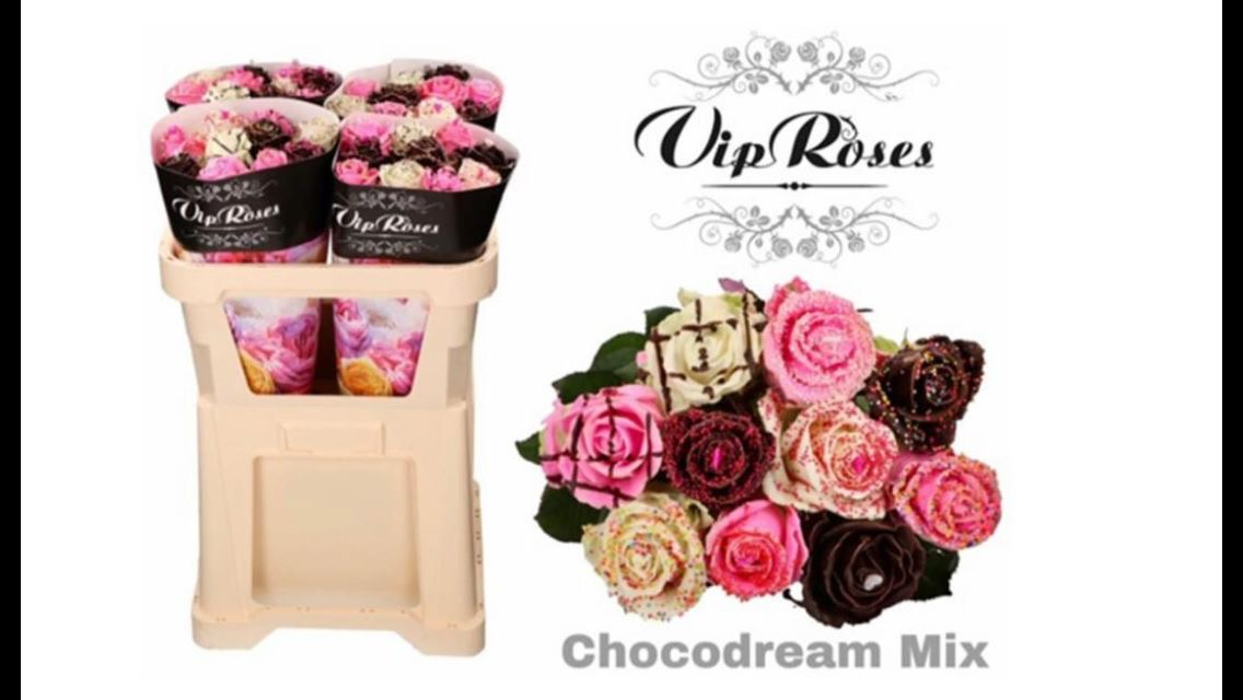 VALENTINES CHOCOLATE ROSE HAND TIE